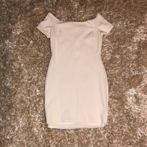Lulu's White off the shoulder fitted dress